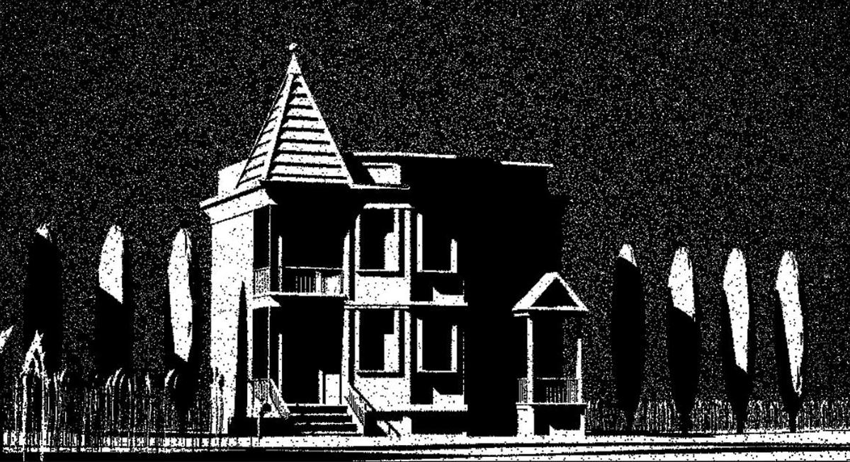 house-bw